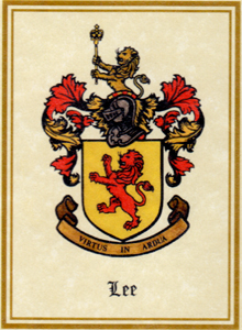 The Lee Family Coat of Arms