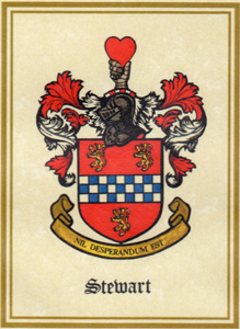 The Stewart Family Coat of Arms